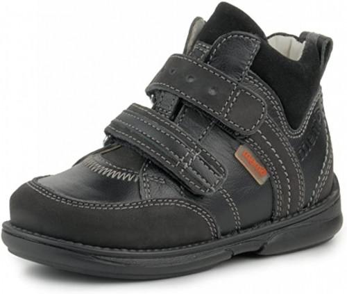 MEMO POLO Junior čierne unisex supinované topánky na suchý zips 22-31 - 3
