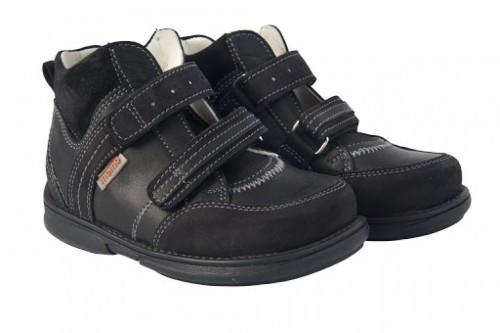 MEMO POLO Junior čierne unisex supinované topánky na suchý zips 22-31 - 2