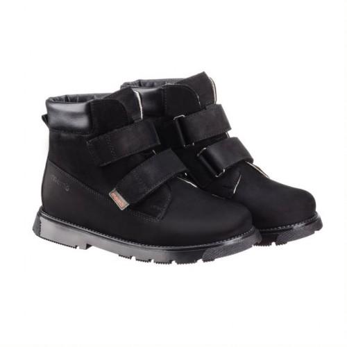 MEMO MALMÖ čierne unisex supinované topánky na suchý zips 30-34 - 2