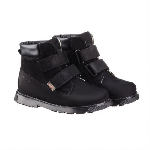 MEMO MALMÖ čierne unisex supinované topánky na suchý zips 30-34 - 3