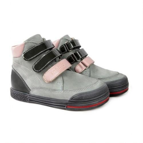 MEMO CHICAGO trendi szürke-rózsaszín lány gyerekcipő orrkoptatóval 26-36 - 2