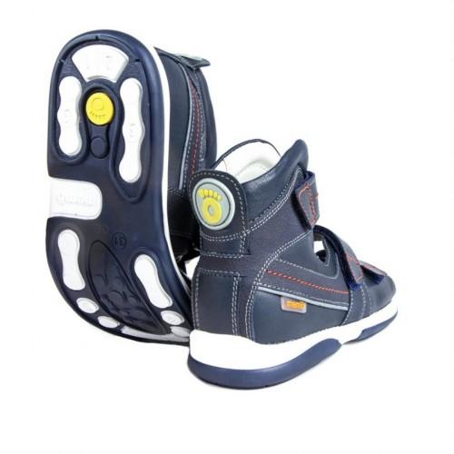 MEMO HERMES modré chlapčenské detské supinované sandále 30-38 - 2