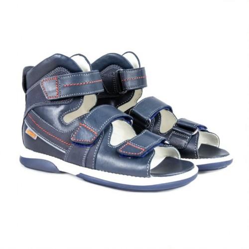 MEMO HERMES modré chlapčenské detské supinované sandále 30-38 - 3