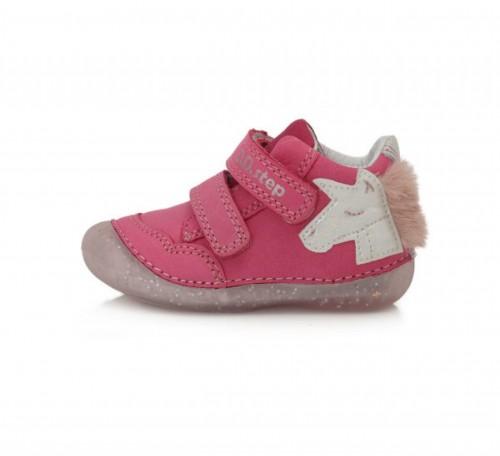 D.D.step  ružové dievčenské detské topánky na suchý zips 19-24 - 3