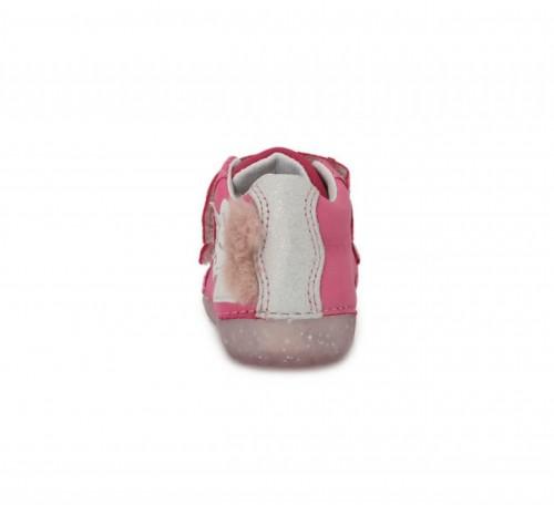 D.D.step  ružové dievčenské detské topánky na suchý zips 19-24 - 4