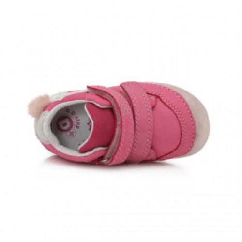 D.D.step  ružové dievčenské detské topánky na suchý zips 19-24 - 5