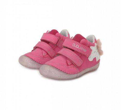 D.D.step  ružové dievčenské detské topánky na suchý zips 19-24 - 2