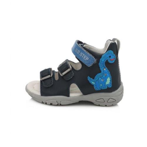 D.D.Step chlapčenské modré detské sandále 19-24 s LED osvetlením - 6
