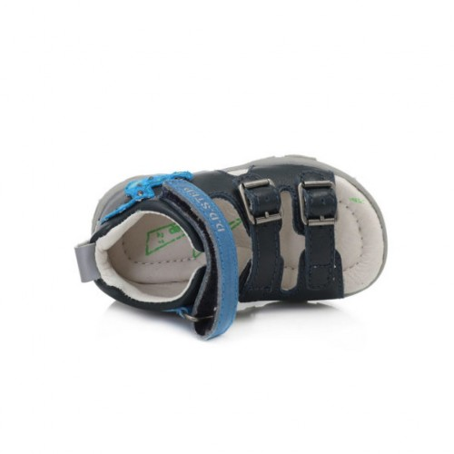 D.D.Step chlapčenské modré detské sandále 19-24 s LED osvetlením - 2