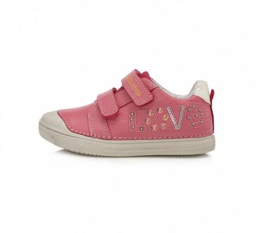 D.D.step ružovo dievčenské detské topánky na suchý zips 25-30 - 2