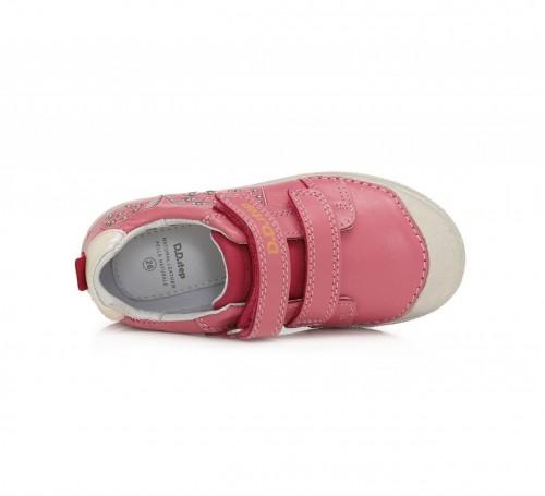 D.D.step ružovo dievčenské detské topánky na suchý zips 25-30 - 5