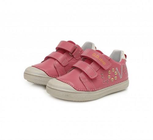 D.D.step ružovo dievčenské detské topánky na suchý zips 25-30 - 6