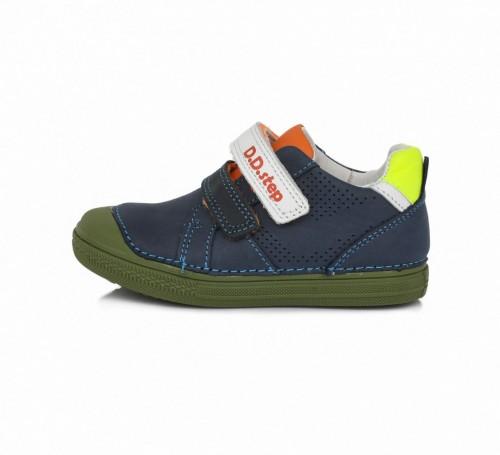 D.D.step modré chlapčenské detské topánky na suchý zips 25-30 - 6