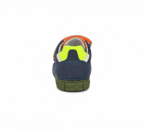 D.D.step modré chlapčenské detské topánky na suchý zips 25-30 - 5