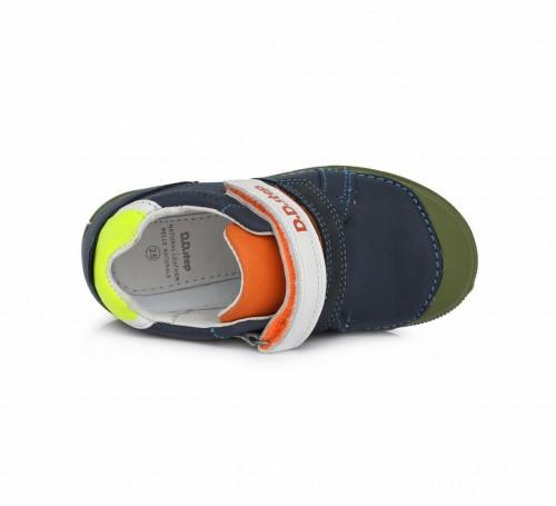 D.D.step modré chlapčenské detské topánky na suchý zips 25-30 - 3