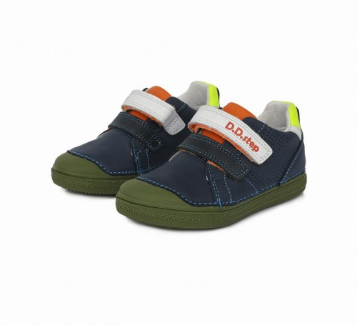 D.D.step modré chlapčenské detské topánky na suchý zips 25-30 - 2