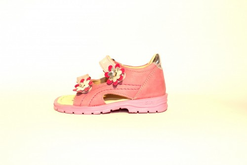 Supykids MIMI detské supinované dievčenské sandále na suchý zips ružové 20-30 - 3