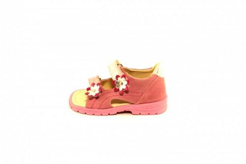 Supykids MIMI detské supinované dievčenské sandále na suchý zips ružové 20-30 - 2