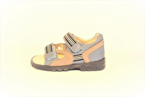Supykids ROMI detské supinované sandále na suchý zips modro-sivé 20-30 - 4