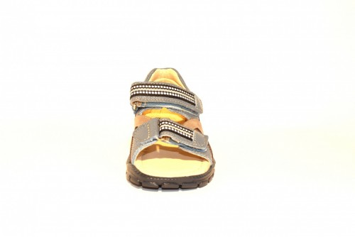 Supykids ROMI detské supinované sandále na suchý zips modro-sivé 20-30 - 5