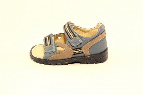 Supykids ROMI detské supinované sandále na suchý zips modro-sivé 20-30 - 3