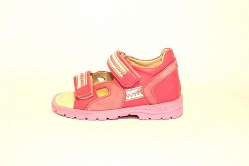 Supykids ROMI detské supinované dievčenské sandále na suchý zips ružovo-strieborné 20-30 - 3