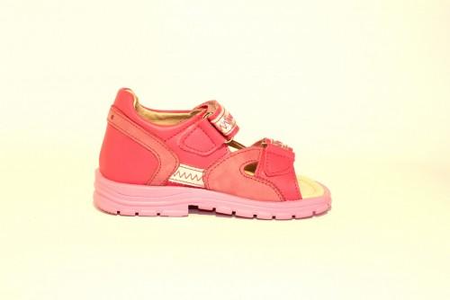 Supykids ROMI detské supinované dievčenské sandále na suchý zips ružovo-strieborné 20-30 - 4