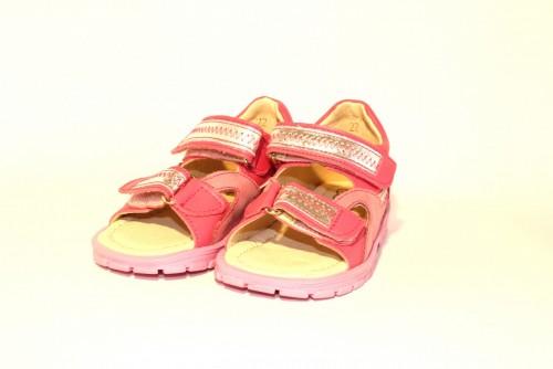Supykids ROMI detské supinované dievčenské sandále na suchý zips ružovo-strieborné 20-30 - 5
