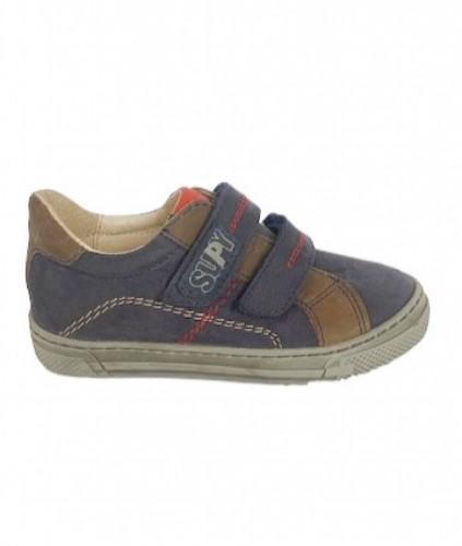 Supykids MODIX kék-barna fiú tépőzáras gyerekcipő 22-30 - 2