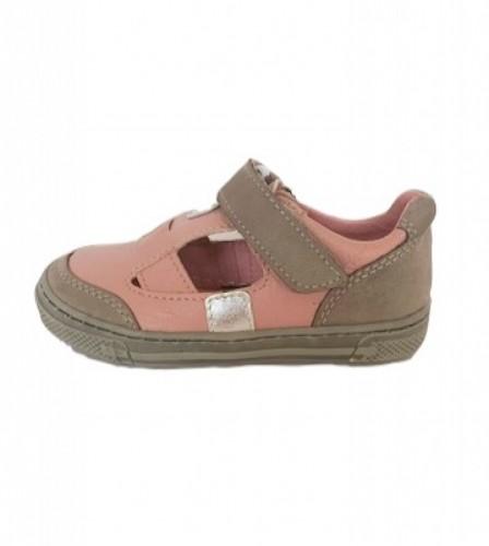 Supykids BALI rózsaszín-szürke lány tépőzáras gyerek szandálcipő 20-30 - 2