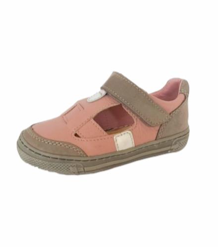 Supykids BALI rózsaszín-szürke lány tépőzáras gyerek szandálcipő 20-30 - 3