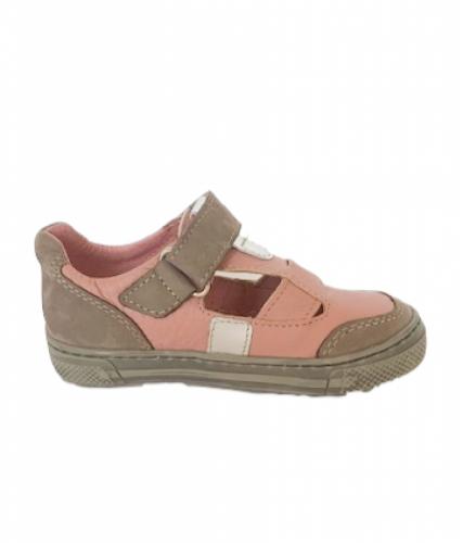 Supykids BALI rózsaszín-szürke lány tépőzáras gyerek szandálcipő 20-30 - 4