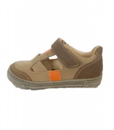 Supykids BALI detské  chlapčenské  sandáleobuv na suchý zips hnedé-béžové 20-30 - 2
