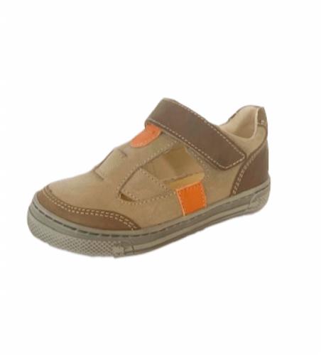 Supykids BALI detské  chlapčenské  sandáleobuv na suchý zips hnedé-béžové 20-30 - 3