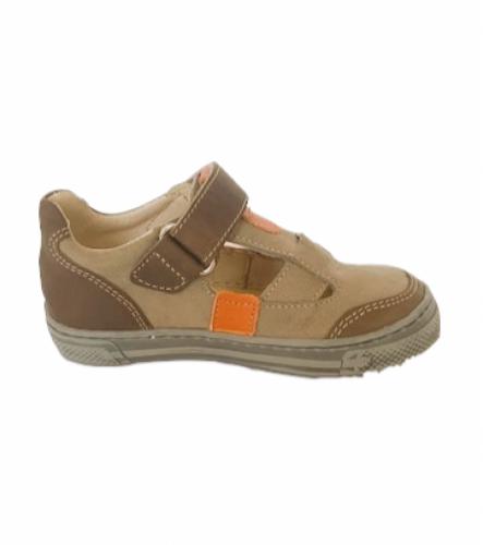Supykids BALI detské  chlapčenské  sandáleobuv na suchý zips hnedé-béžové 20-30 - 4