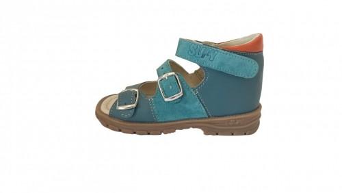 Supykids SOMA detské supinované sandále na suchý zips modré 20-30 - 3