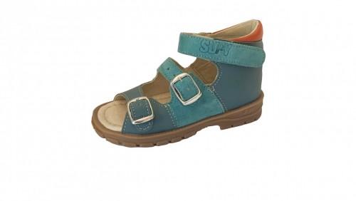Supykids SOMA detské supinované sandále na suchý zips modré 20-30 - 2
