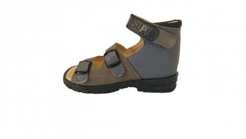Supykids SASA detské supinované sandále na suchý zips modro-sivé 20-30 - 2
