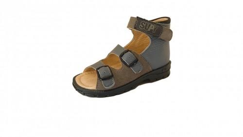 Supykids SASA detské supinované sandále na suchý zips modro-sivé 20-30 - 3