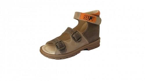 Supykids SASA detské supinované sandále na suchý zips hnedé-béžové 20-30 - 3