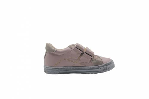 Supykids MODIX béžová-zlato dievčenské detské topánky na suchý zips 22-30 - 2
