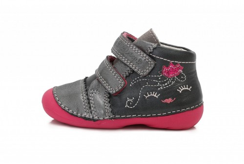 a590f8da185c D.D. STEP detské dievčenské topánky sivé so suchým zipsom 19-24