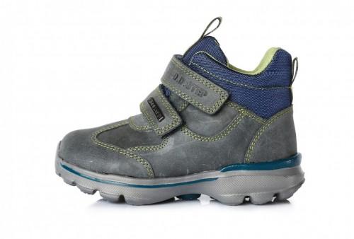 3653693ba4f1 D.D.step sivé chlapčenské VODEODOĽNÉ vysoké detské topánky na suchý zips