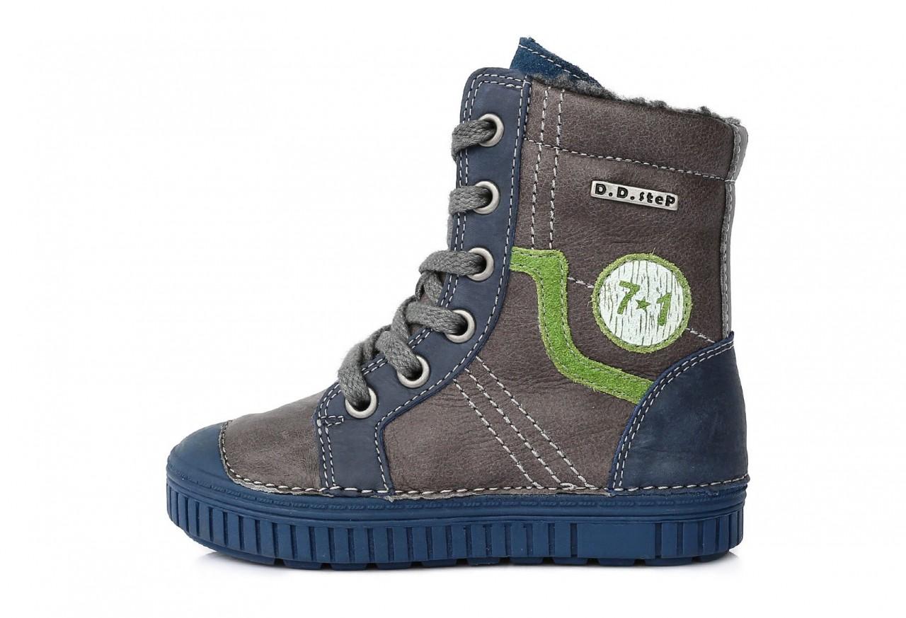 a1503b8f79e3 D.D.STEP szürke kék fiú bélelt magasszárú fűzős oldalt cipzáras gyerekcipő  25-30