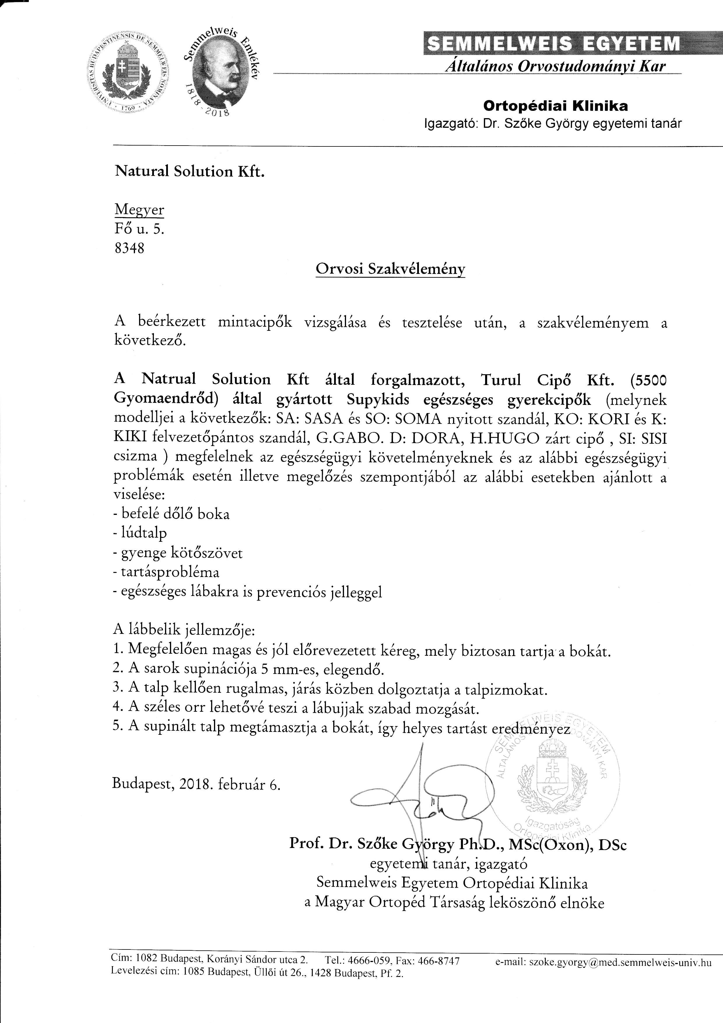 Supykids - orvosi szakvélemény